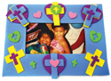 Campeones de la fe: Marco de cruz - Paquete de 12 (Champions of Faith: Cross Photo Frame Magnet Craft Kit - 12 pk)