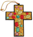Aventuras glaciales: Set de mosaico de cruz con brillantina y joyas – 12 proyectos (Cool Adventures: Glitter Jewel Cross Mosaic Craft Kit – 12 projects)
