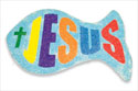 """Jesus"" Fish Sand Art (""Jesús"" Kit de pez con arena) (Pack of 12)"