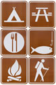 "Camp Sign Cut Outs, 21"" (Pack of 6) - VBS 2015"