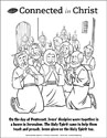 Connected in Christ Coloring Page - Pentecost (Downloadable)
