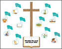 Worship and Serve Bulletin Board