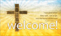 Pew Card - Cross Welcome (Pack of 50)