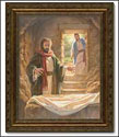 Framed Print - Peter & John at the Empty Tomb (Gauthier)