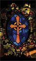 Stained Glass Series Banner: Cross 3x5