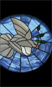 Stained Glass Series Banner: Dove 3x5