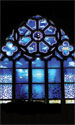Stained Glass Series Banner: Blue
