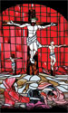 Stained Glass Series Banner: Sacrifice Red 3x5