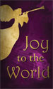 Christmas Banner: Joy to the World Purple - Angel