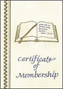 Membership Certificate (Pkg of 25)