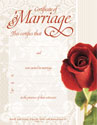 Marriage Certificate Red Foil Embossing