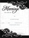 Marriage Certificate (Pack of 6)