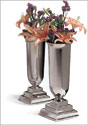 "11"" Silverplate Vases (Pair)"