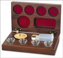 4-Cup Pastor's Cherry Wood Communion Set