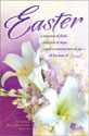 Standard Easter Bulletin: Easter, Purple with White Lilies