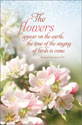 Standard General Worship Bulletin - The flowers appear on the earth