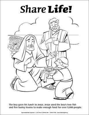 coloring page jesus feeds 5000 downloadable