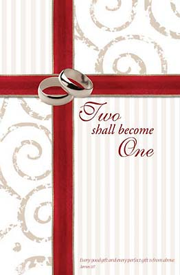 Standard Wedding Bulletin: Two shall become one