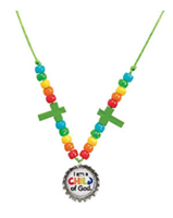 Collar con tapita de botella (Bottle Cap Necklace) (Pack of 12)