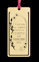 I Can Do All Things Gold-Plated Bookmark