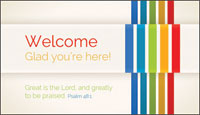 Communication Card: Welcome Glad You're Here (Pack of 50)