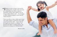 God Smiles on Fathers - A Bulletin Insert for Father's Day - Downloadable