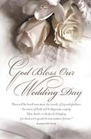 Standard Wedding Bulletin: God Bless our Wedding Day