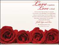 Panoramic Wedding Bulletin: Love is Patient