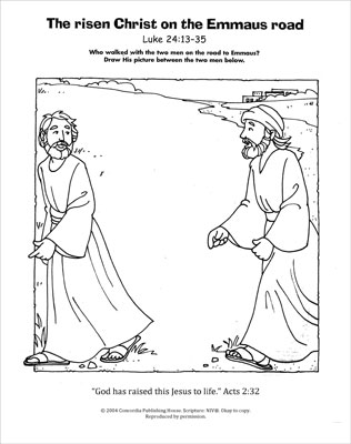 a living hope coloring page emmaus road downloadable