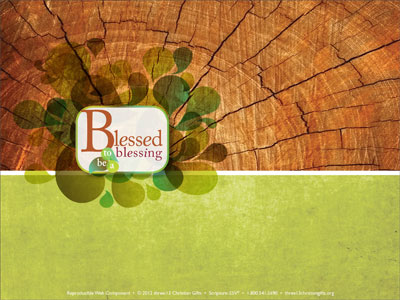 blessed to be a blessing powerpoint template (downloadable), Modern powerpoint