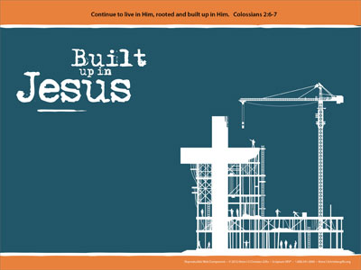 built up in jesus powerpoint template downloadable, Powerpoint